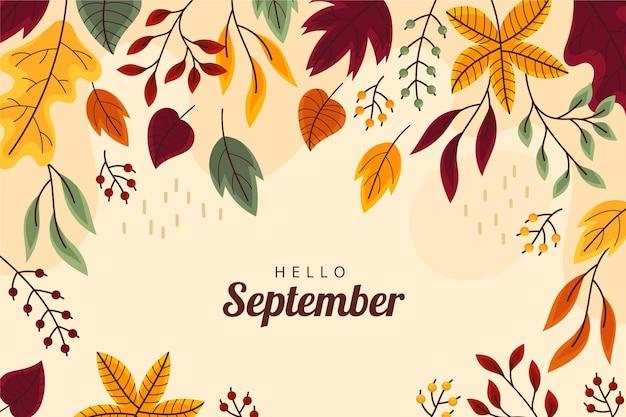 Witam września tło