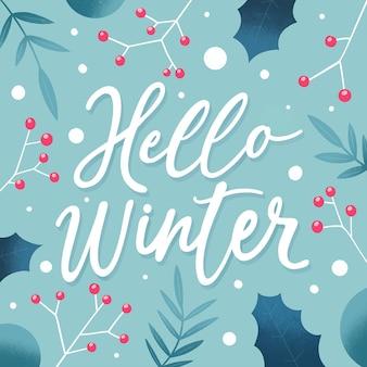 Witam zimowy napis