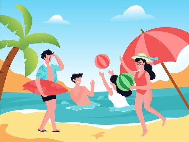 Witamy lato, wakacje na plaży