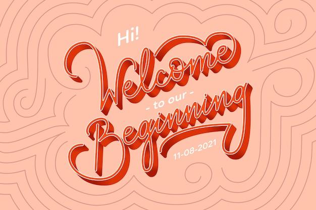 Witamy na naszych początkowych napisach ślubnych