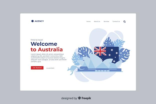 Witamy na stronie docelowej australii