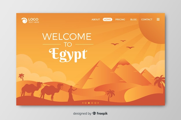 Witamy na stronie docelowej egiptu