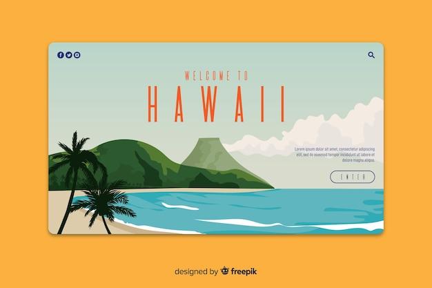 Witamy na stronie docelowej hawajów