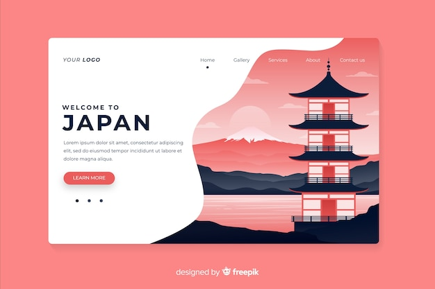 Witamy na stronie docelowej japonii