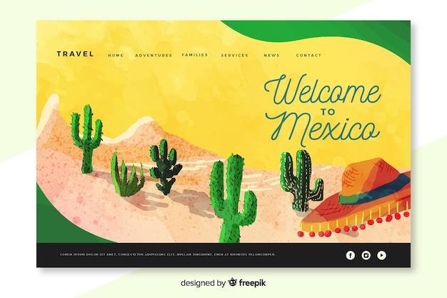 Witamy na stronie docelowej meksyku