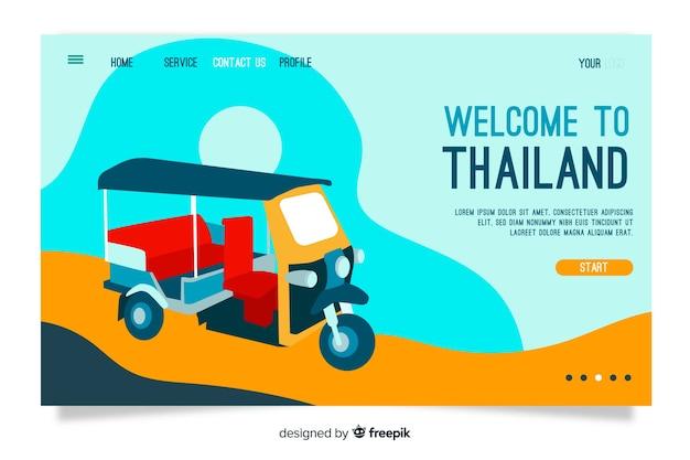 Witamy na stronie docelowej tajlandii