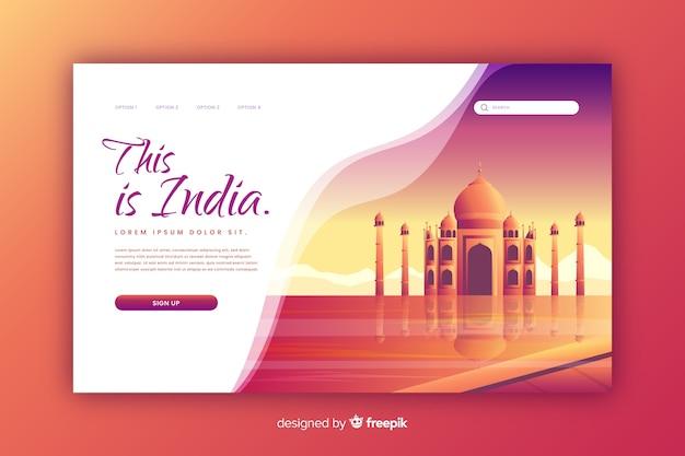 Witamy na stronie docelowej w indiach