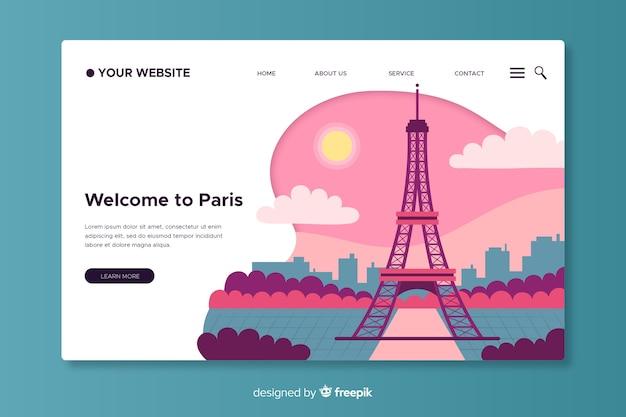 Witamy na stronie docelowej w paryżu