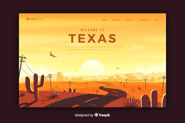 Witamy na stronie docelowej w teksasie