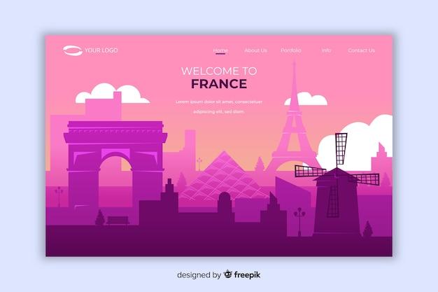 Witamy na stronie docelowej we francji