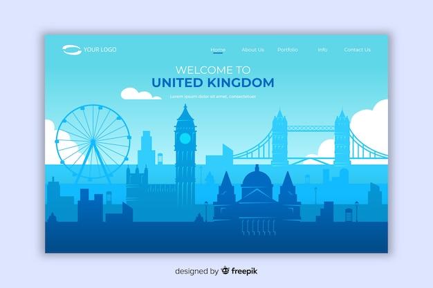 Witamy na stronie docelowej zjednoczonego królestwa