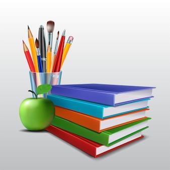 Witamy ponownie w szkole. artykuły i elementy szkolne.
