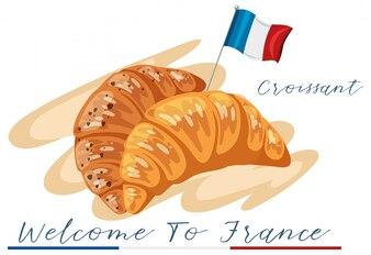 Witamy w croissant Francji