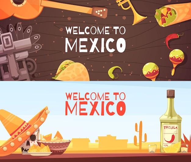 Witamy w meksyku poziome bannery