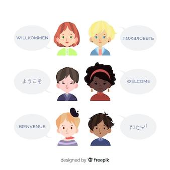 Witamy w różnych językach