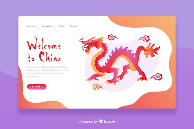 Witamy w szablonie chińskiej strony docelowej