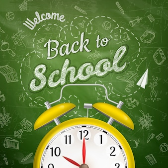 Witamy z powrotem w szkole z budzikiem.