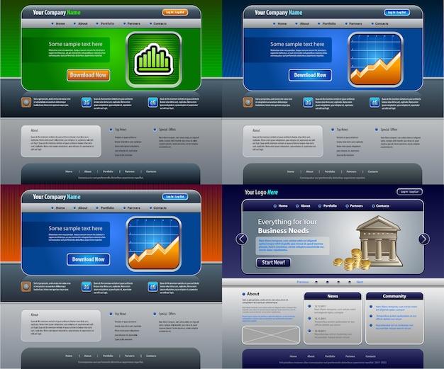 Witryny sieci web szablonów biznesowych.