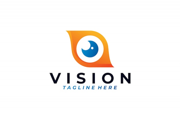 Wizja logo wektor na białym tle