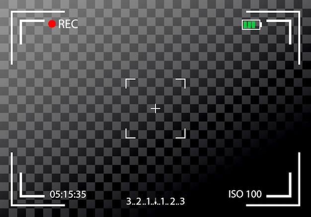Wizjer aparatu bez lustra, lustrzanka cyfrowa. cyfrowy nacisk.
