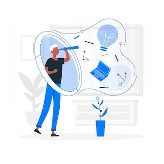 Wizjonerska ilustracja koncepcja technologii