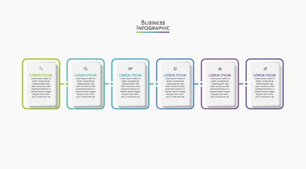 Wizualizacja danych biznesowych ikony infografiki na osi czasu zaprojektowane dla szablonu abstrakcyjnego tła