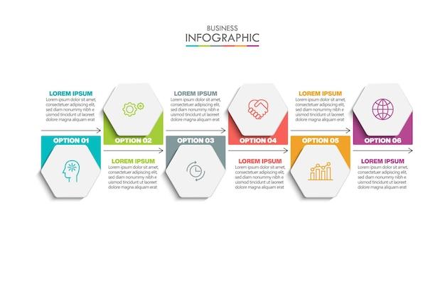 Wizualizacja danych biznesowych szablon infografiki osi czasu
