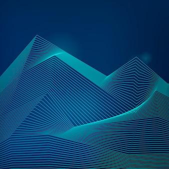 Wizualizacja danych dynamicznych wektorowej fali