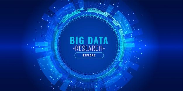 Wizualizacja danych futurystyczny sztandar technologii