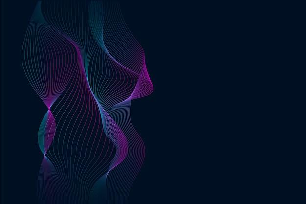 Wizualizacja dynamicznej fali wizualizacji danych