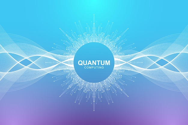 Wizualizacja koncepcji technologii komputerów kwantowych