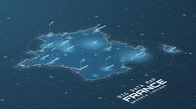 Wizualizacja mapy niemiec z dużymi zbiorami danych
