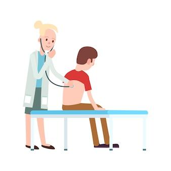 Wizyta lekarza w klinice