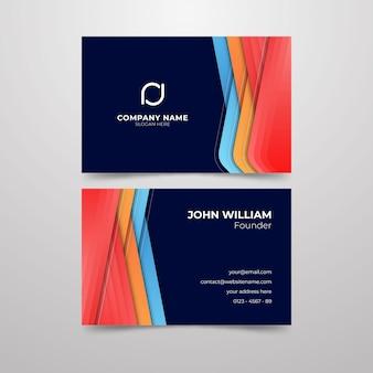 Wizytówka dla abstrakcyjnego projektu nazwy firmy