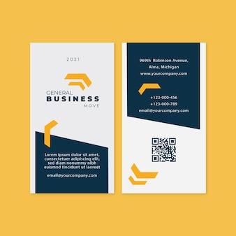 Wizytówka Dwustronna General Business Premium Wektorów