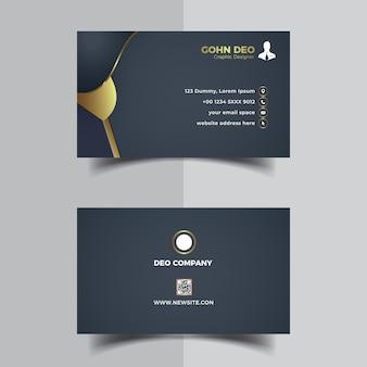 Wizytówka firmowa w ciemnym kolorze