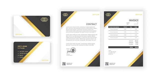 Wizytówka i puste prosty kolorowy projekt ilustracja wektorowa nowoczesny minimalistyczny szablon szablon projektu dokumentu dla firmy biurowej