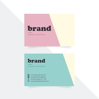 Wizytówka kolorowy minimalny szablon