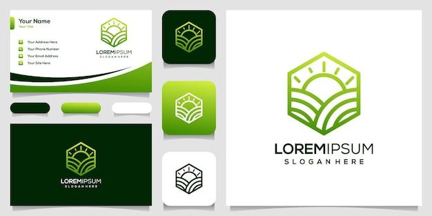 Wizytówka koncepcji projektu logo farmy