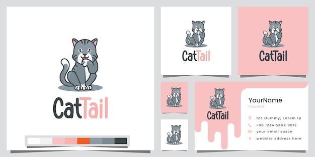 Wizytówka logo ogon kota