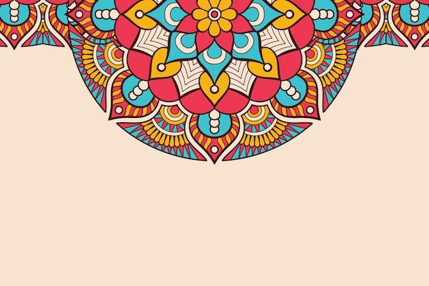 Wizytówka. vintage elementy dekoracyjne. ozdobne wizytówki kwiatowy, orientalny wzór, ilustracja