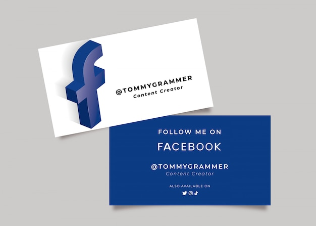 Wizytówka w mediach społecznościowych dla twórcy treści