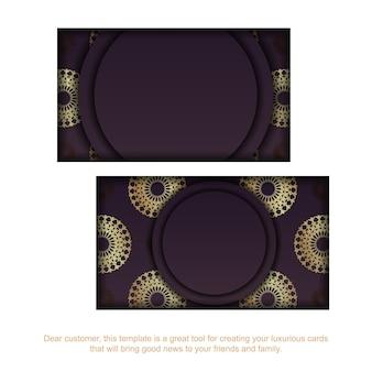 Wizytówka wzór bordowy grecki złoty wzór dla twojej marki.
