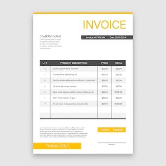 Wizytówka z fakturą. koncepcja obsługi klienta. płatność online. płatność podatku. szablon faktury. ilustracji.