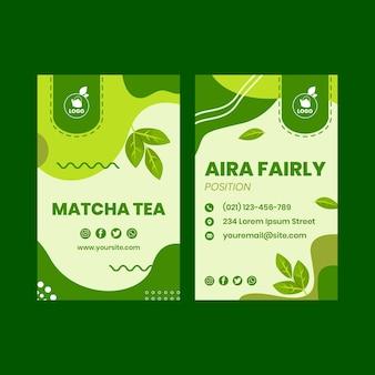 Wizytówka z herbatą matcha