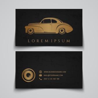 Wizytówka z klasycznym samochodem