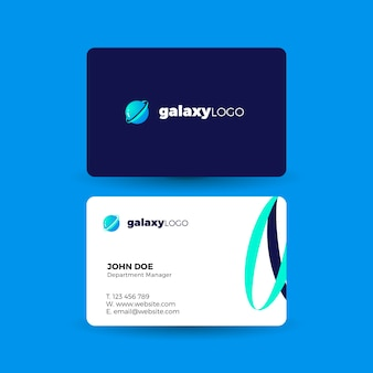 Wizytówka z logo galaktyki