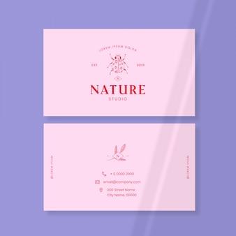 Wizytówka z logo owadów