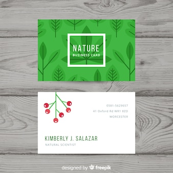 Wizytówka z naturą lub eco pojęciem