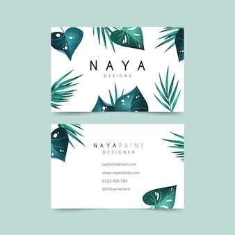 Wizytówka z pakietem motywów naturalnych